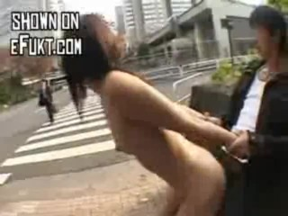 Wild asian fuck in the middle of the street